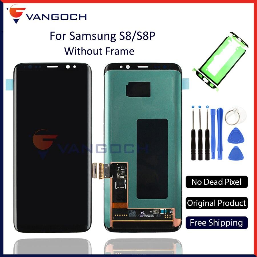 100% D'origine Super Amoled LCD Écran pour Samsung Galaxy S8 Affichage G950 S8 Plus G955 L'assemblée Remplacement avec adhésifs et outils