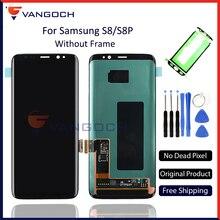 Дешевые 100% Оригинальные Super Amoled ЖК-дисплей Экран для samsung Galaxy S8 Дисплей G950 S8 плюс G955 сборки Замена с клеи и инструменты