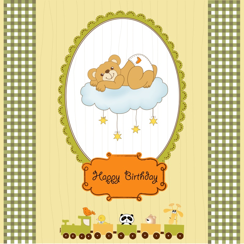 Yeele Bear Lace Train Baby Birthday Party Cartoon Customized Text Photography Background Photographic Backdrops For Photo Studio in Background from Consumer Electronics