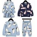 BBK Discount! new ins Rabbit Hoodies boys T shirt Kids sweatshirts girls T Shirts cotton cloth+pants children Clothing Sets