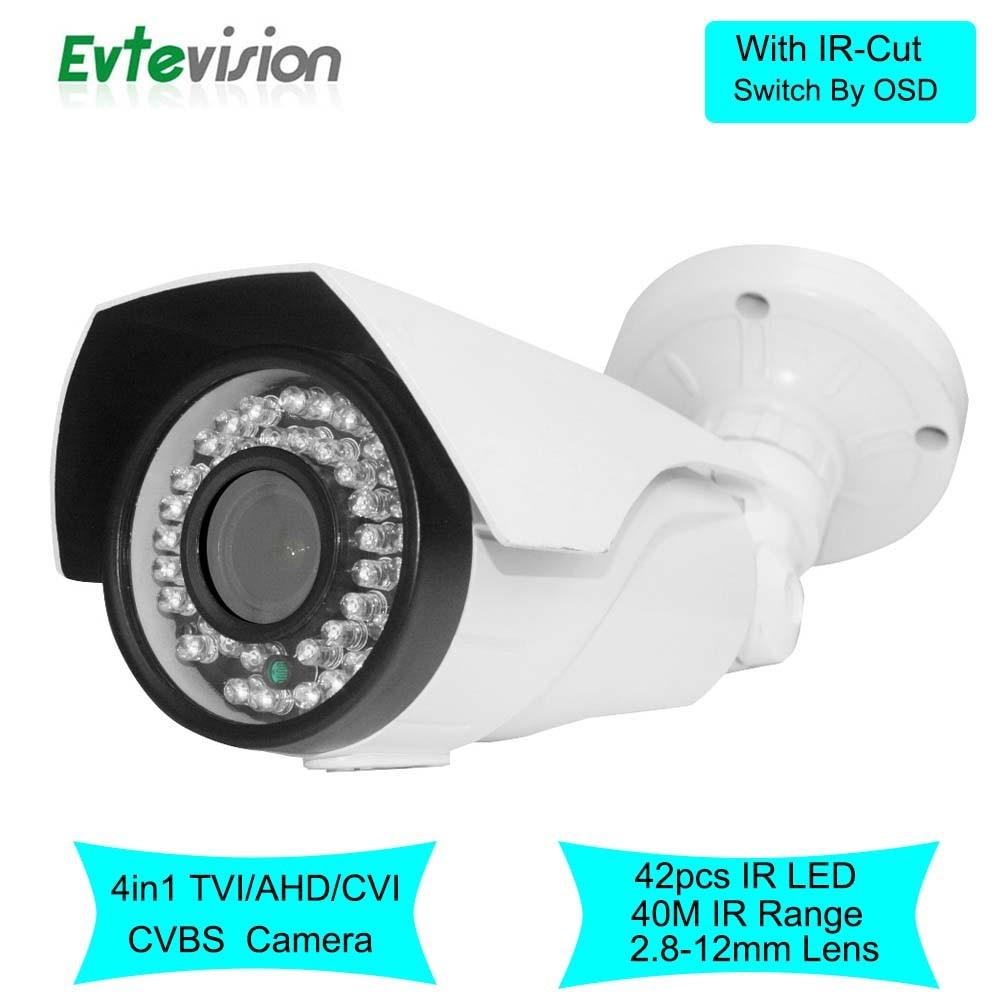 Здесь можно купить   Bullet Security Camera Waterproof 1.0MP 42LED Outdoor 4 in 1 TVI/AHD/CVI/CVBS Camera Night Vision CCTV Cam with IR-Cut OSD Безопасность и защита
