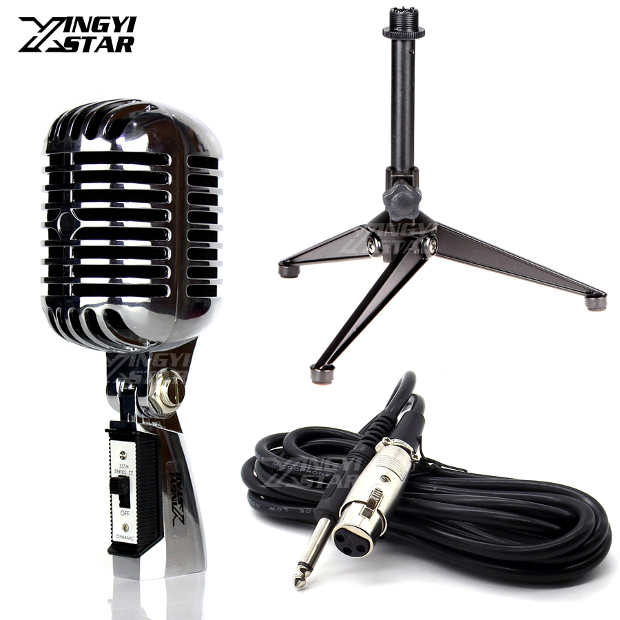 55SH Series II Professional Switch Old Style 6.5mm Jack Wired Dynamic Microphone Vintage Retro Mic Stand For Mixer Audio Console