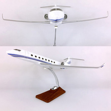40CM Airplane Model Toys G650 Gulfstream Aircraft Model 1/133 Scale Diecast Plastic Alloy Plane With Base F Display Collection kitty hawk kh80112 1 48 mirage f 1b plastic model kit