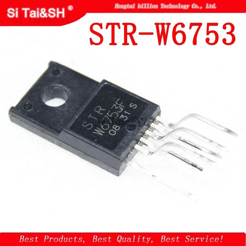 5pcs/lot STR-W6753 STRW6753 W6753 TO-220F-6
