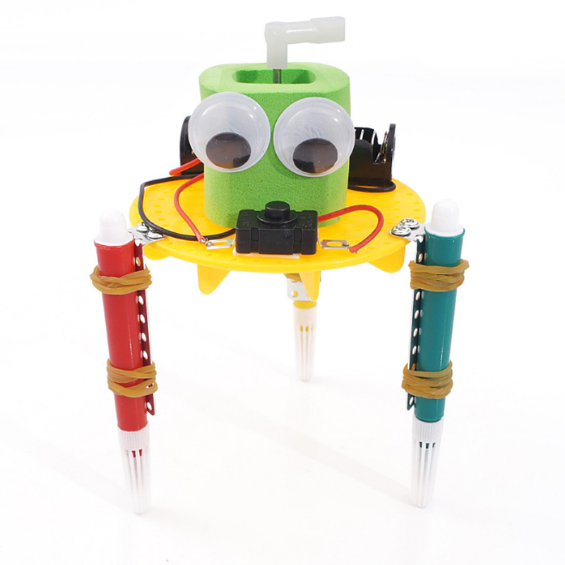 Kid Inventions Educational Toys for Children Primary and Secondary Science Experiment Early Learning DIY Doodle Robot Technology