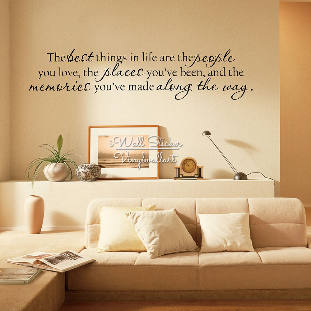 The best things in life quote wall sticker home wall quotes vinyl the best things in life quote wall sticker home wall quotes vinyl lettering easy wall art decal diy removable cut vinyl q215 in hair clips pins from amipublicfo Images