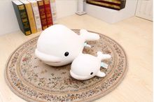 small cute foam whale toy big head white dolphin doll pillow gift about 30x15x20cm