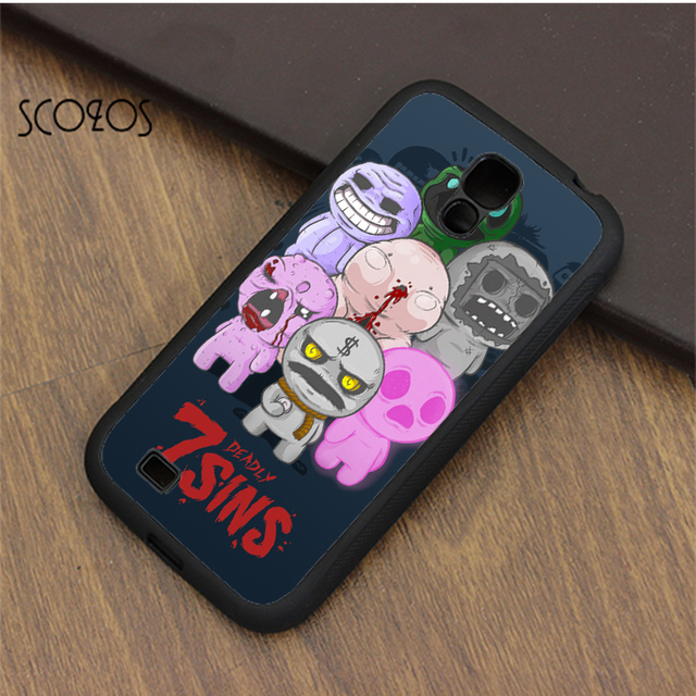 e363118ec0691e SCOZOS 7 Deadly Sins The Binding of Isaac case cover for samsung galaxy S3  S4 S5 S6 S7 S8 S6 edge S7 edge note 3 note 4 note 5