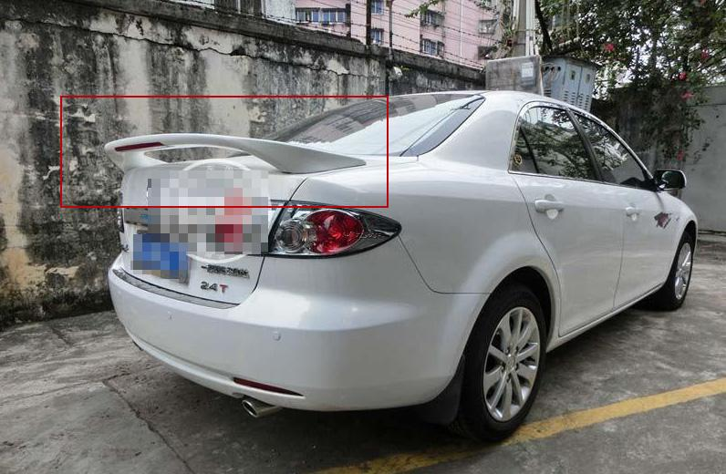Primer Unpaint Factory Style ABS <font><b>Spoiler</b></font> Wing With LED Fit For <font><b>mazda</b></font> 6 M6 All Year 2003 2004 2005 2006 2007 2008 Z2AAH002 image