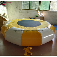 3m diameter inflatable jumping trampoline water mat,heat sealing inflatable water trampoline rental for aqua park