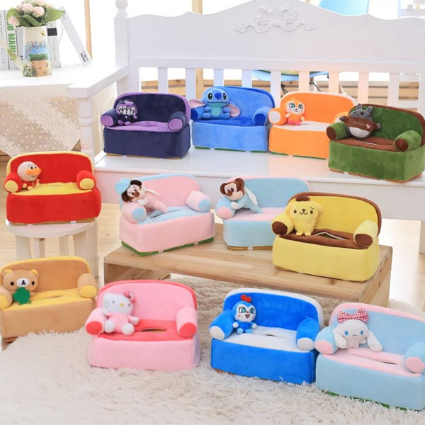 Candice Guo Cute Plush Toy Sofa Style Tissue Box Cover Anpanman Cinnamoroll Totoro Sch Rilaka Purin Kid Birthday Gift 1pc In Stuffed Plants