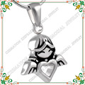 CMJ8214 winged angels ash pendant cremation jewelry stainless steel jewellery funeral urn keeping memory