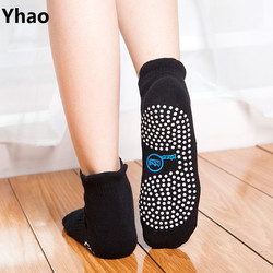 4 color women anti slip ankle grip yoga socks yhao brand supply dots pilates fitness.jpg 250x250