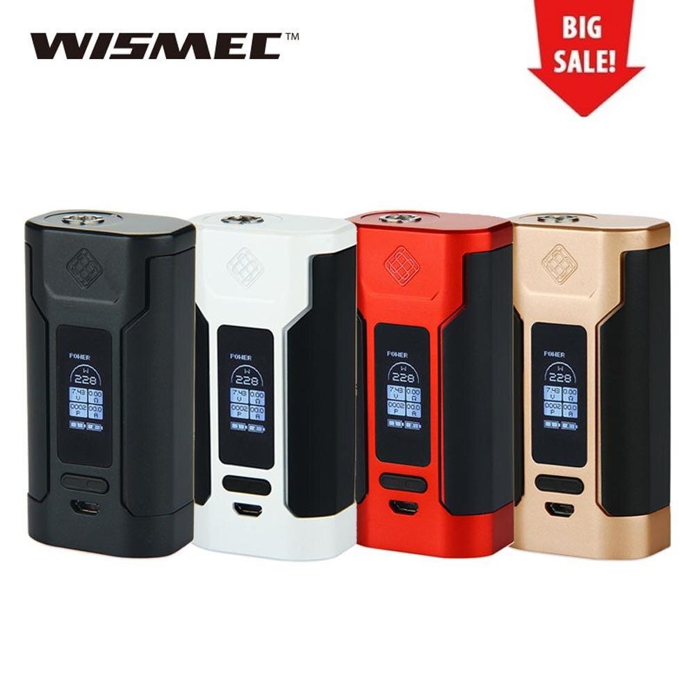 Original 228 W WISMEC depredador TC 228 cigarrillo electrónico MOD Vape Mod gran poder para Elabo tanque electrónico cigarrillo vape mod