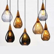 Modern Creative Glass Pendant Lights LED Pendant Lamp Bedroom Restaurant Living Room Cafe Kitchen Fixtures Lighting Luminaire цена
