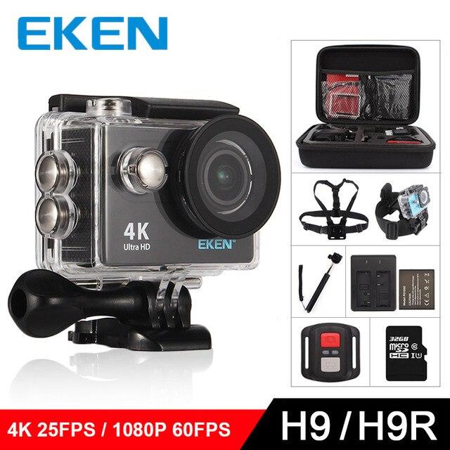 """EKEN H9/H9R Eylem kamera Ultra HD 4 K/25fps WiFi 2.0 """"170D sualtı su geçirmez Kask Kam kamera Spor cam"""