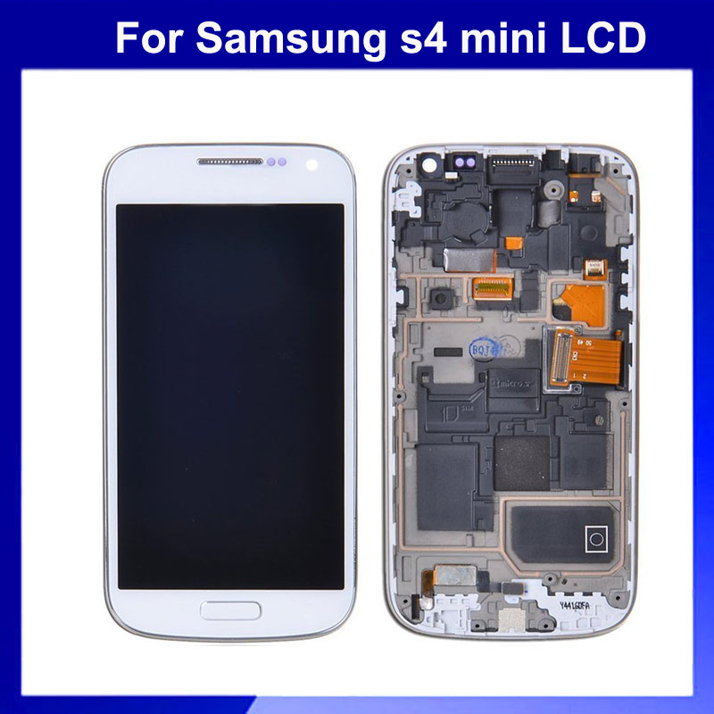 ФОТО 1pc Free Shipping for Samsung Galaxy S4 MIni LCD Screen Display i9190 i9195 with Touch screen digitizer White Color