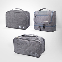 3Pcs/set Travel Cosmetic Bag Electronic Digital Cables Wire Gadgets Tote Toiletry Underwear Pouch Clothes Organizers Accessories