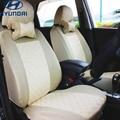 Универсальный автомобиль чехлы для сидений Hyundai solaris ix35 ix25 i30 Elantra МИСТРА GrandSantafe акцент tucson автомобильные аксессуары стикер
