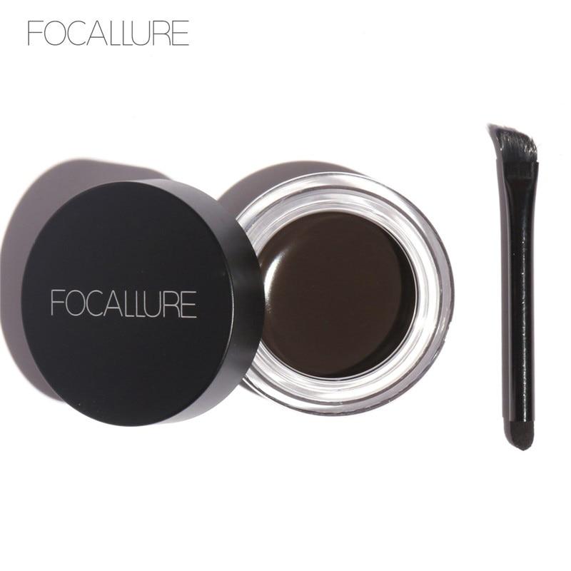 Focallure 5 Warna Alis Gel Tahan Lama Alis Pomade Gel Tahan Air Maquiagem Makeup Aksesoris Alis Pomade Gel
