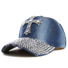 xthree New black Rhinestone baseball cap Fashion Hip hop Cap Men Women's Baseball Caps Super Quality Unisex  Hat Free Shipping