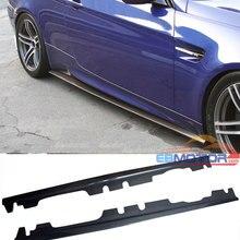 Е стиль Реальные углеродного волокна боковые юбки 1 пара для BMW E90 E92 E93 M3 2Dr 4Dr 2008- B293