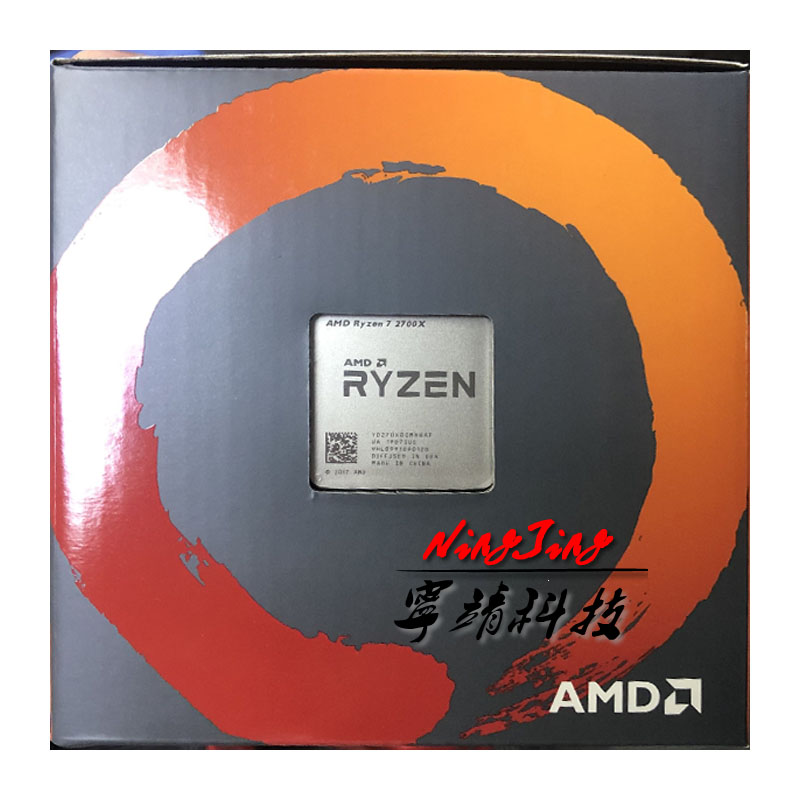 New AMD Ryzen 7 2700X R7 2700X 3.7 GHz Eight-Core Sinteen-Thread 16M 105W CPU Processor YD270XBGM88AF Socket AM4
