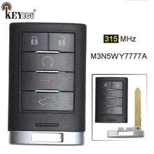 KEYECU 1x3x315 mhz FCC ID: 4 + 1 5 M3N5WY7777A Substituição Remoto Chave Inteligente Botão do Controle Remoto Fob Chave para Cadillac CTS STS