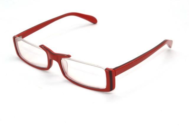Más de la Mitad-Borde rojo señoras Acetato Marco Diseñado para la presbicia Por Encargo Anteojos de lectura Photochrmic + 1.0 a + 6.0