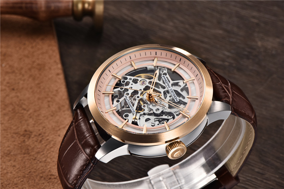 HTB1rR37X0zvK1RkSnfoq6zMwVXaR 2019 PAGANI DESIGN Brand Fashion Leather Gold Watch Men Automatic Mechanical Skeleton Waterproof Watches Relogio Masculino Box