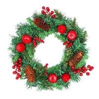 New Arrive Christmas Ornament DIY Merry Christmas Wreath Garland Window Door Decorations Bowknot Ornament S13