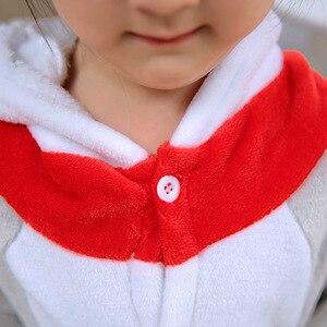 Image 5 - kigurumi New Hooded Children Pajamas Winter Flannel Cartoon Cat   Kids Boys Girls Pijamas Baby Cosplay Pyjamas Sleepwear Onesies
