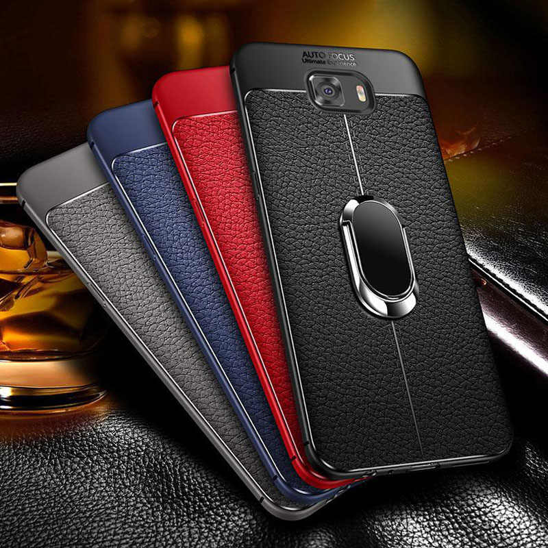 6921c8e59 Soft Silicone Leather Back cover for Samsung Galaxy S8 S9 Plus s7 edge With  Magnetic Car
