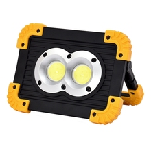 Projecteur à large faisceau, éclairage dextérieur avec puce LED COB, Rechargeable par USB, 10W LED