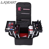 Professional cosmetic bags hand held large capacity multi layer manicure hairdressing, tattoo, embroidery, tool box, storage bag
