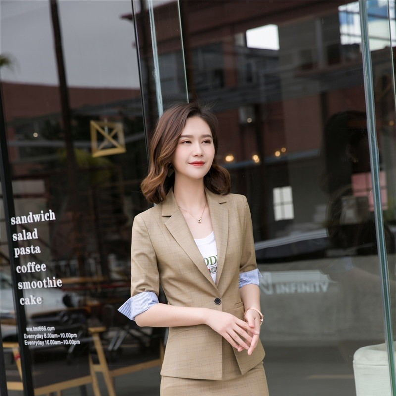 Novelty Blazers Half Sleeve Formal Blazer And Jackets Coat For Women Business Work Wear 2019 Spring Summer OL Styles Outwear