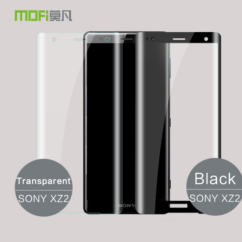 La sfor Sony Xperia XZ2 Trempé Verre D'origine MOFI 3D Protecteur D'écran Pour Sony Xperia XZ2 Compact Plein Screeen Couvercle En Verre