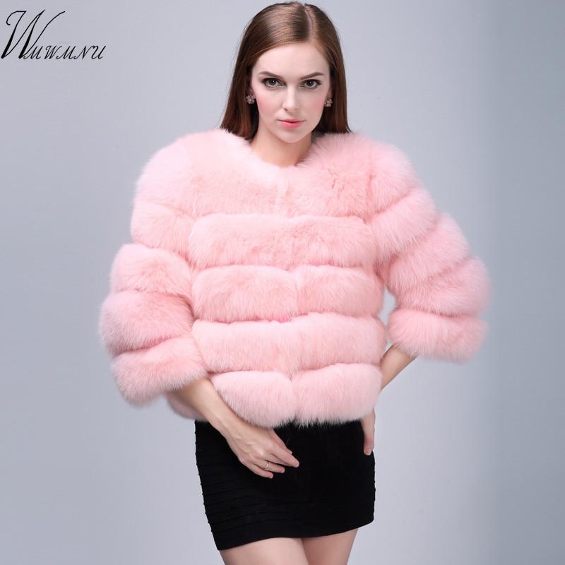 Европейский Элегантный искусственная Пушистый Лисий пальто с мехом женские 2018 Новинка зимы мода на открытом воздухе одежда теплый искусст... ...