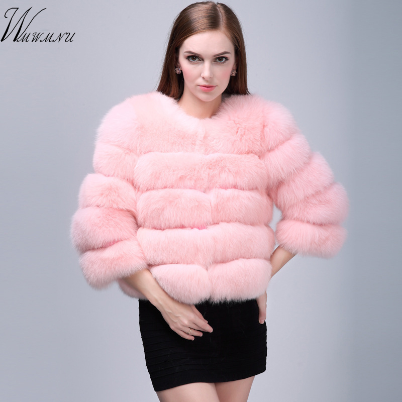 Hot Sale New Faux Fox Fur Coat Women Winter Fashion Stand Collar Artifical Fur Coats Women Warm Overcoat Female Faux Fur Jacket Products Are Sold Without Limitations Jackets & Coats