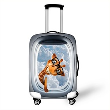 Cute 3D Cartoon Animal Luggage Protective Covers For Travel 18 to 28 Inch Trolley Suitcase Cover Elastic Dust Protection Cover