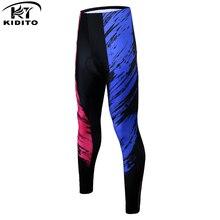 KIDITOKT женские зимние длинные брюки для горного велосипеда, сохраняющие тепло велосипедные брюки, велосипедные колготки для велоспорта, противоударные 3D гелевые мягкие