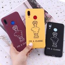 For Samsung S8 S9 S10 S10e Plus lite Note 8 9 10 A7 A8 Venus De Milo Sculpture Classic Girl Silicone Phone Case Capa Fundas