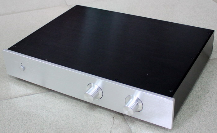 WA12 Full Aluminum amplifier Enclosure/mini AMP case/ Preamp box/ PSU chassis 425*70*313mm 4308 rounded chassis full aluminum enclosure power amplifier box preamplifier chassis