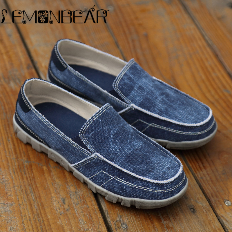 Men Canvas Shoes Fashion Denim male Autumn Mens sneakers Slip On Casual Breathable Shoes Loafers Chaussure Homme Footwear man fashion men canvas sneakers slip on summer denim casual shoes jeans breathable flats men loafers shoes male chaussure homme