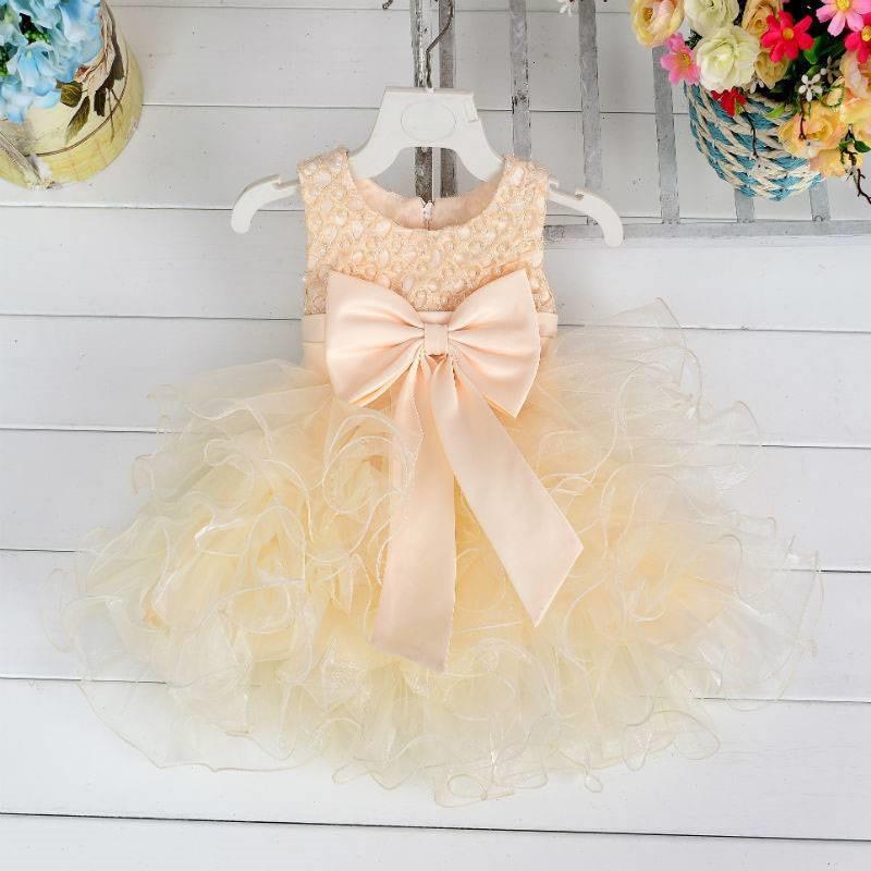 4541acbbe668c Été Bébé robes De Mariage et D anniversaire Parti Filles Robe Princesse  Enfants Vêtements Pour Enfants