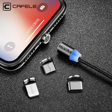 Cafele Magnetic Cable USB Type C Micro For iPhone X XS MAX XR 8 7 6 S Plus Magnet Faste Charging Wire Type-C
