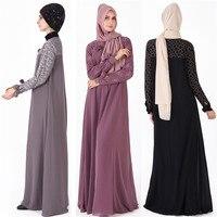 c13d784d3a702 ... moyen orient arabe musulmanes. Elegant Muslim Abaya Dubai Maxi Dress  Kaftan Turkey Women Lace Large Swing Dress Islamic Robes Middle