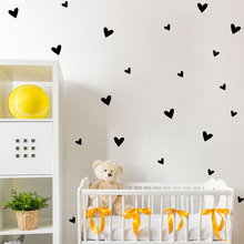 Heart Wall Sticker Baby Nursery Love Heart Wall Decal Kids Room DIY Easy Wall Stickers Removable Wall Decoration