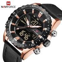 NAVIFORCE Top Homens De Luxo Relógios de Marca Mens Relógio Do Esporte Do Exército Militar relógio de Pulso Data de Exibição Relogio Saat Relógio Masculino À Prova D' Água|Relógios de quartzo| |  -