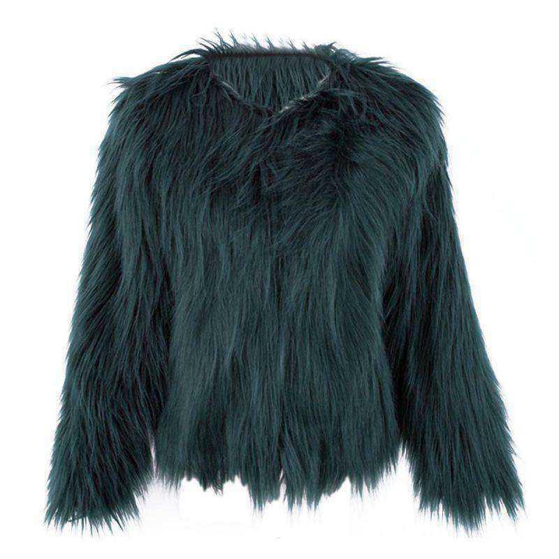 2017 New 5 Colors 6 Size Women Winter Faux Fur Coats Jackets Pink Black Fur Coat